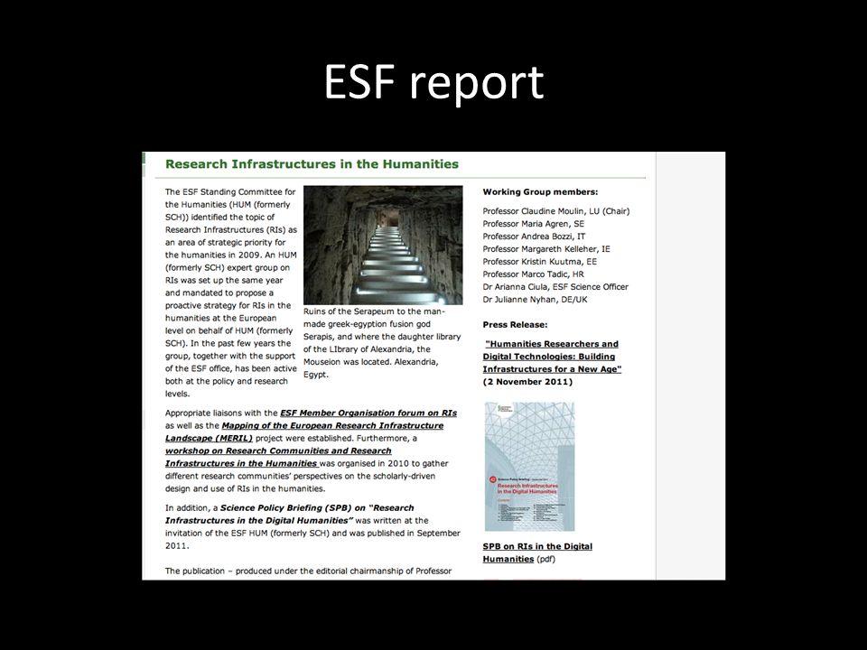 ESF report