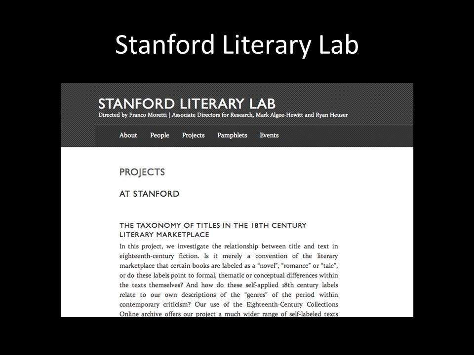 Stanford Literary Lab