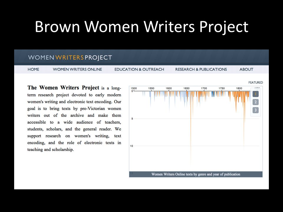 Brown Women Writers Project