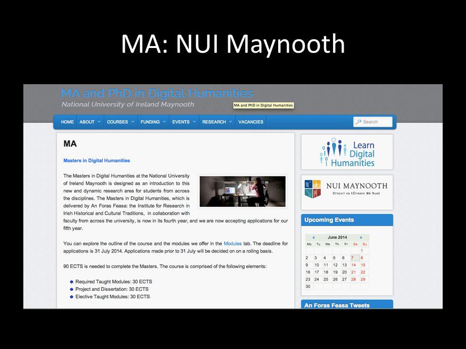 MA: NUI Maynooth
