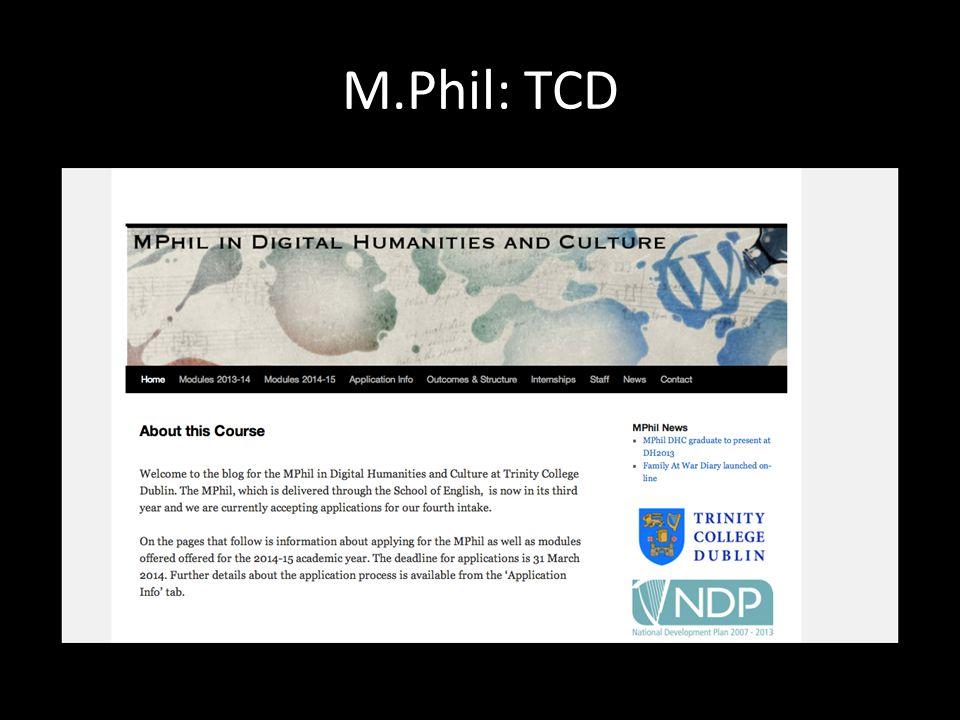 M.Phil: TCD