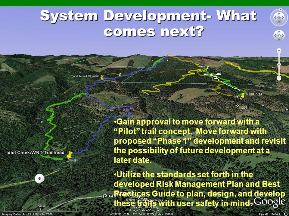 System Development- What comes next.Gain approval to move forward with a Pilot trail concept.