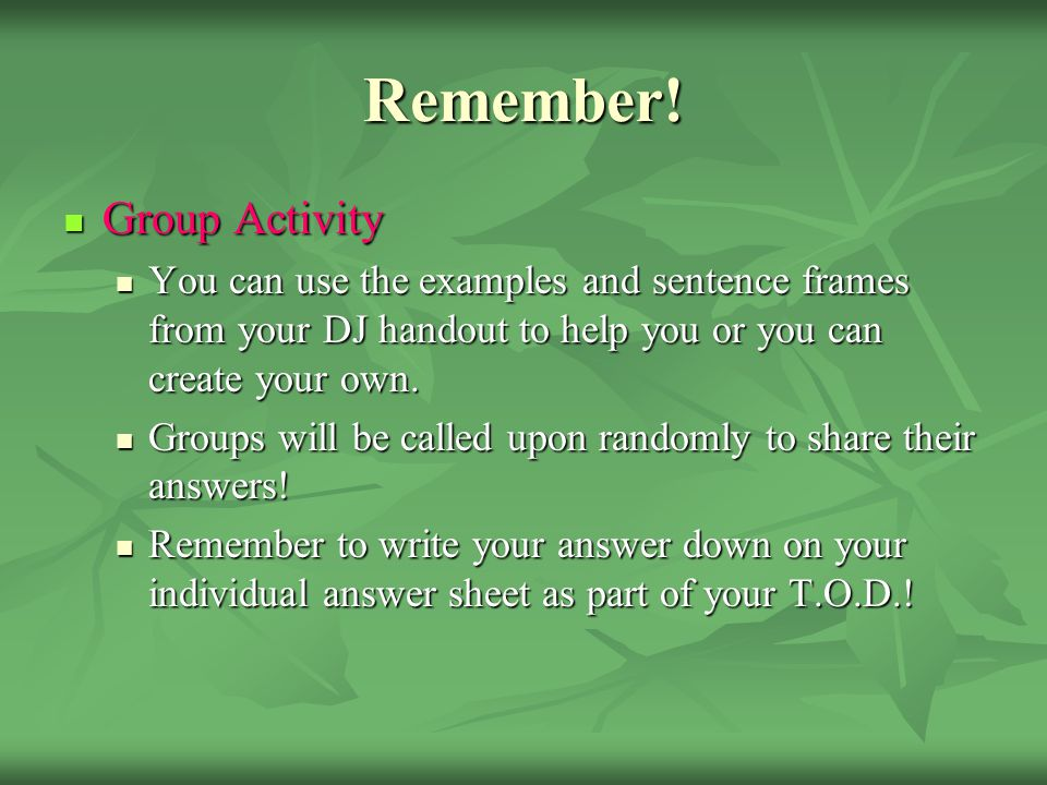Comprehension Check #4 Group Activity #1 Group Activity #1 1. Copy the quote below 2. Create a student response/ analysis for the following quote. You