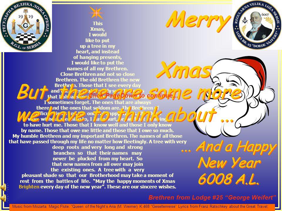 ... And a Happy New Year 6008 A.L.... And a Happy New Year 6008 A.L.