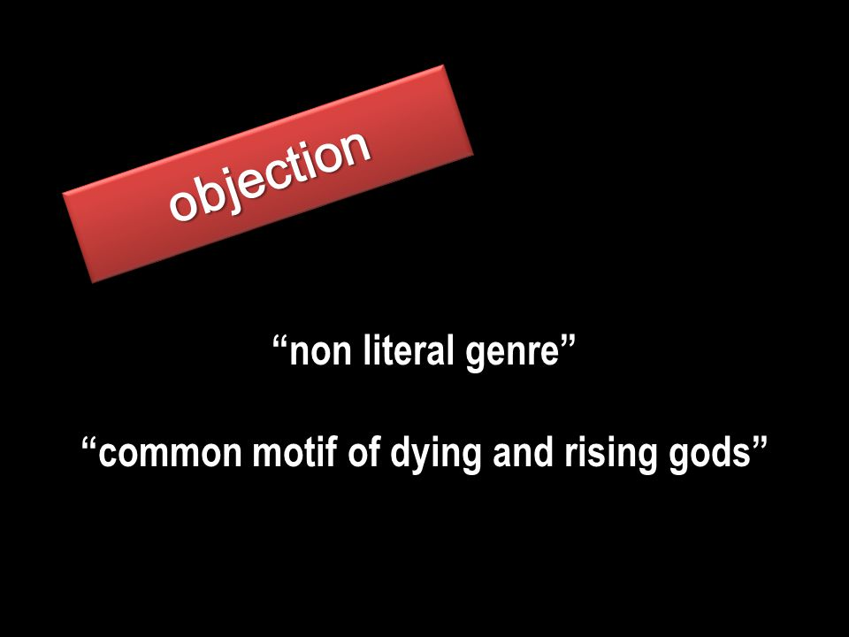 objectionobjection non literal genre common motif of dying and rising gods
