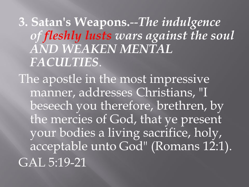 3. Satan s Weapons.