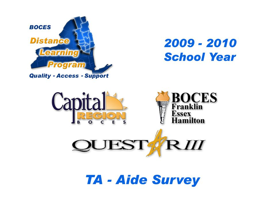 CRB/FEH/Questar III Distance Learning Project DL Aide - Assistant Survey 2009 – 2010 School Year...