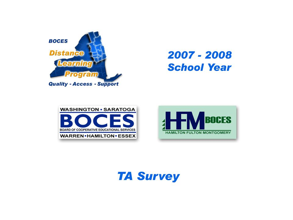 HFM SAN Distance Learning Project DL Aide - Assistant Survey 2007 – 2008 School Year...