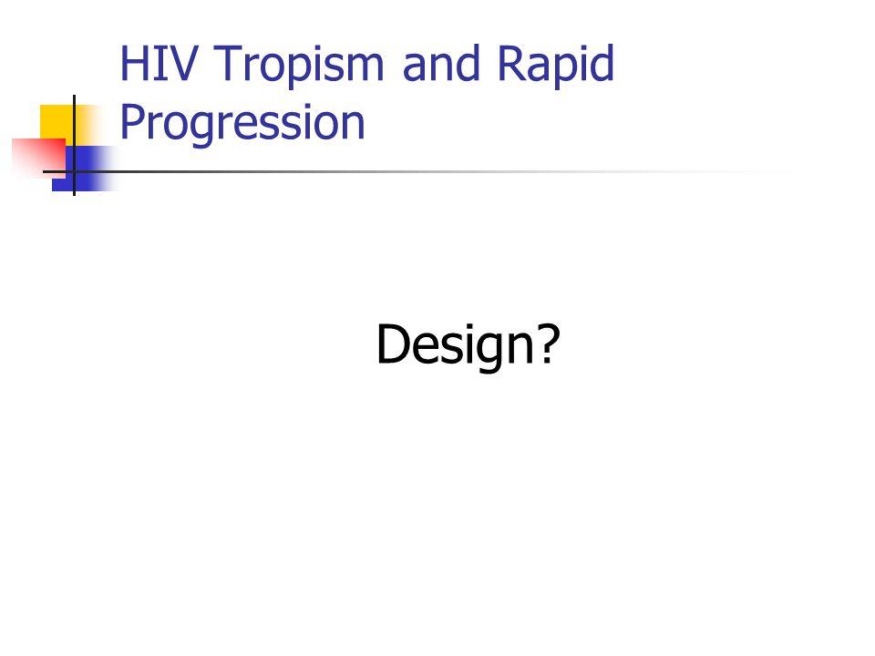 Design? HIV Tropism and Rapid Progression