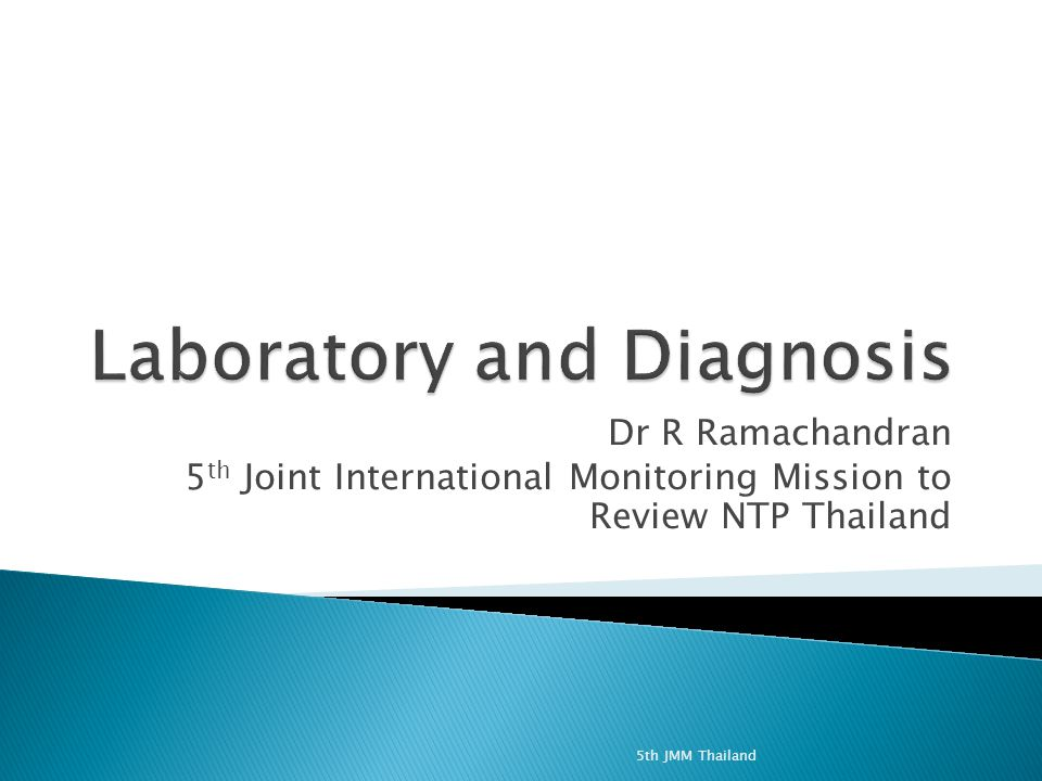 Dr R Ramachandran 5 th Joint International Monitoring Mission to Review NTP Thailand 5th JMM Thailand