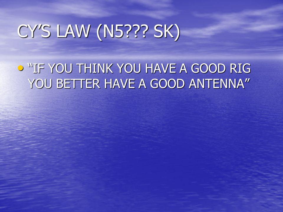 CY'S LAW (N5 .
