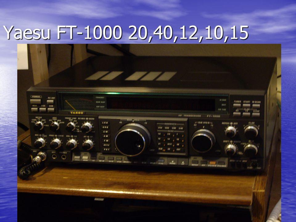 Yaesu FT-1000 20,40,12,10,15
