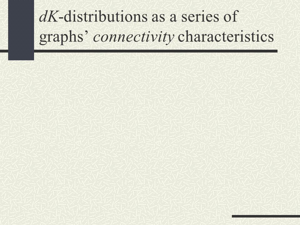 Convergence… …guarantees that all (even not yet defined!) graph metrics can be captured by sufficiently high d
