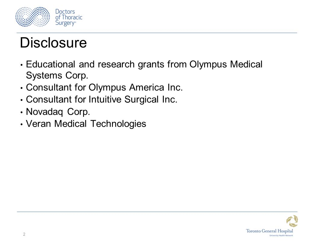 Disclosure Educational and research grants from Olympus Medical Systems Corp.