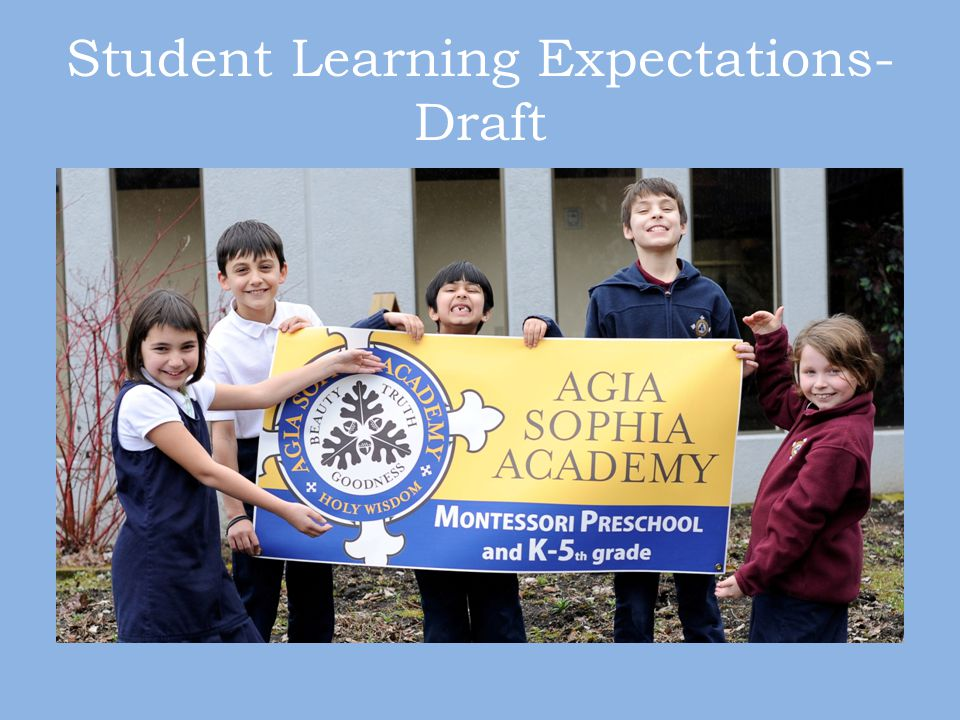 Student Learning Expectations- Draft