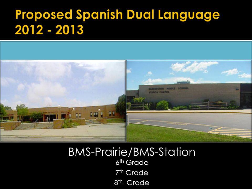 BMS-Prairie/BMS-Station 6 th Grade 7 th Grade 8 th Grade