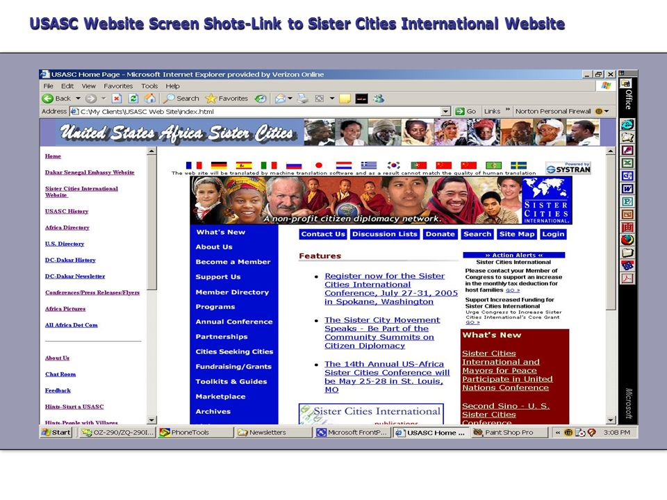 USASC Website Screen Shots-Link to Dakar Senegal Embassy Website