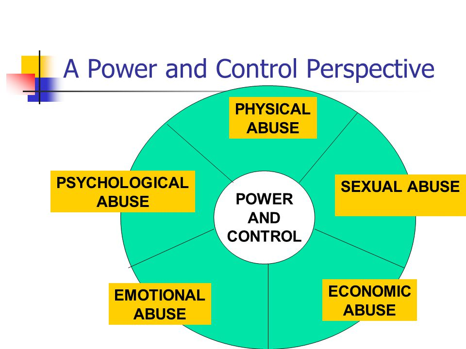 POWER AND CONTROL PHYSICAL Slapping, Biting, Pinching, Burning, Shooting, Stabbing, Forcing drugs /alcohol, Sleep depravation, Withholding medicine or food, etc… SEXUAL Rape, Prostitution, Forced sex after beating, Accusations, Infidelity, Unprotected sex ECONOMIC Control of finances, Forced labor, Forbidding labor or Education, Fraud, Theft, Harassment at work, Debt.
