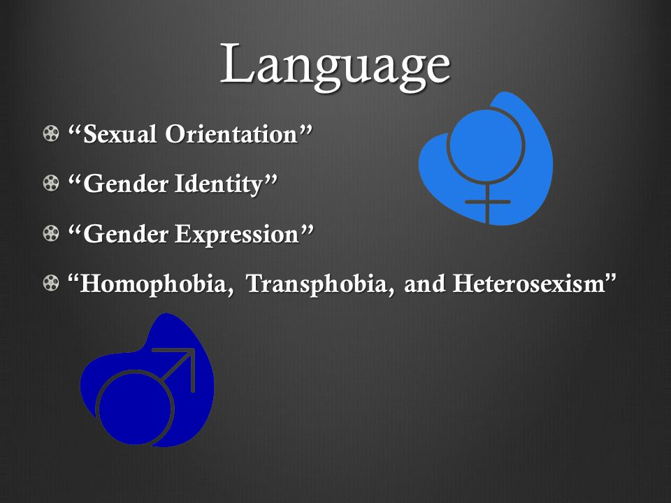 """Language """"Sexual Orientation"""" """"Gender Identity"""" """"Gender Expression"""" """"Homophobia, Transphobia, and Heterosexism"""""""