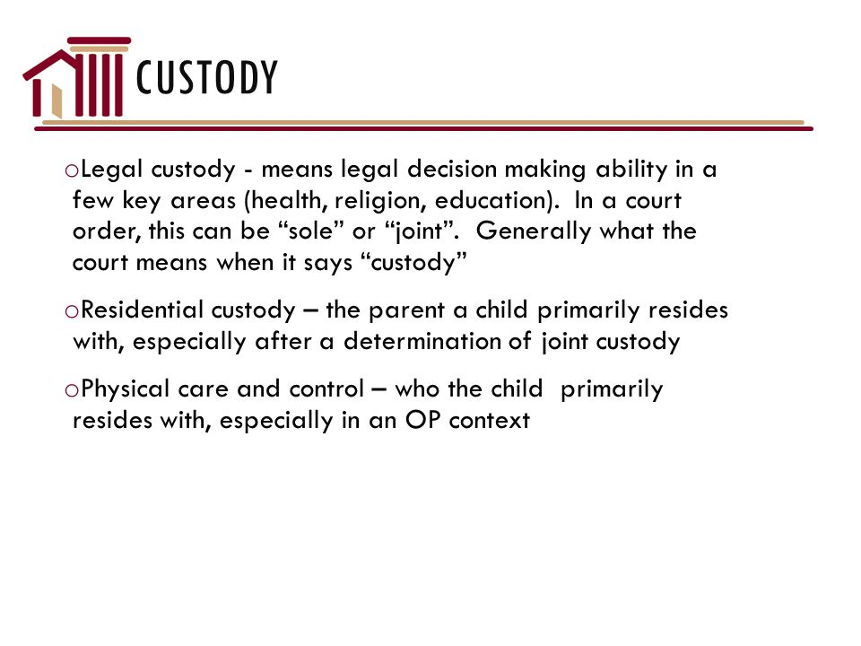 DOMESTIC RELATIONS CASES o Custody, visitation, and child support in relation to children in common with an abuser can be addressed in Domestic Relations Court o Cook County takes an unusual approach to child support and parenting issue litigation by assigning cases based upon whether the child's parents have ever been married to each other.