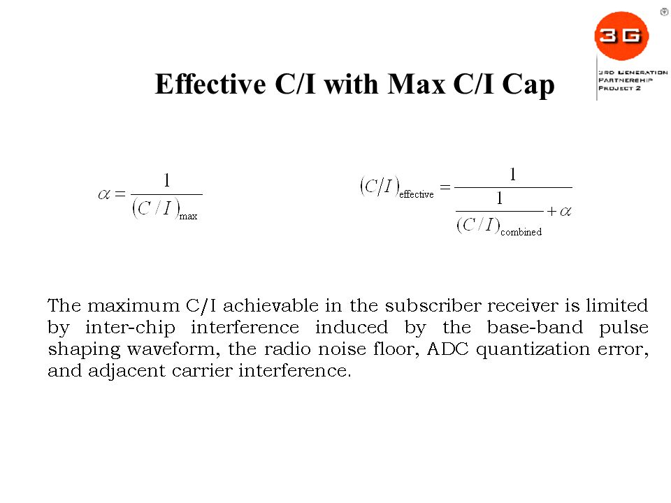 Effective C/I with Max C/I Cap