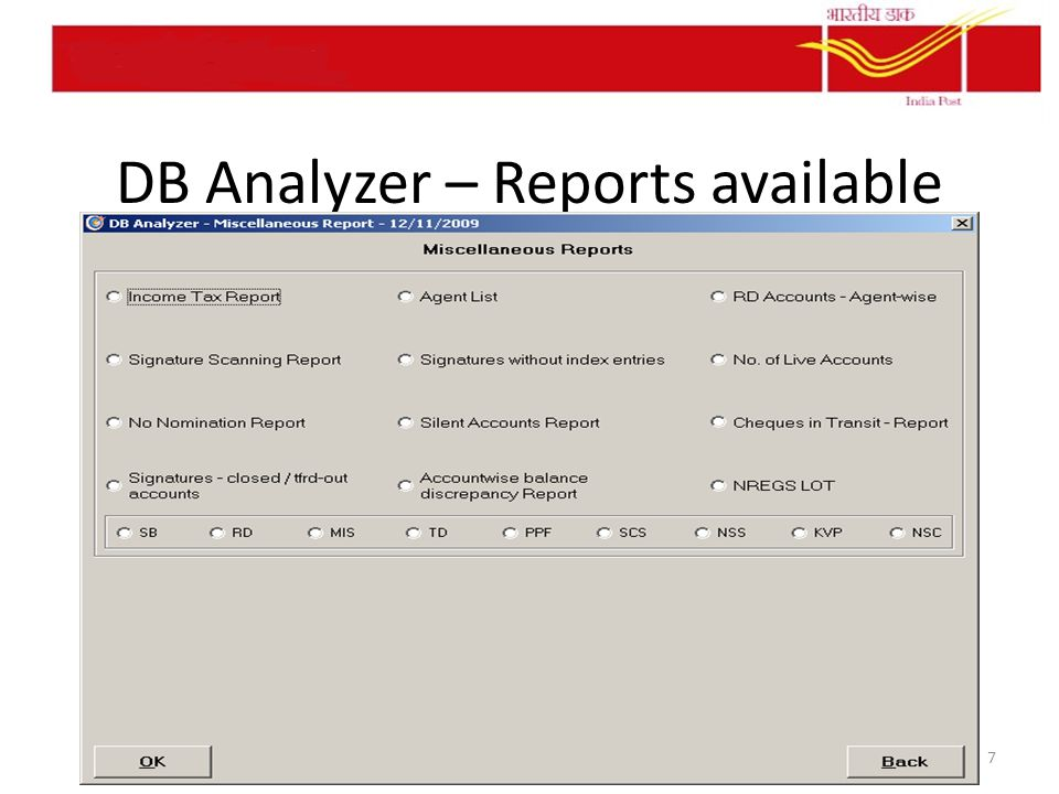 DB Analyzer – Reports available 7