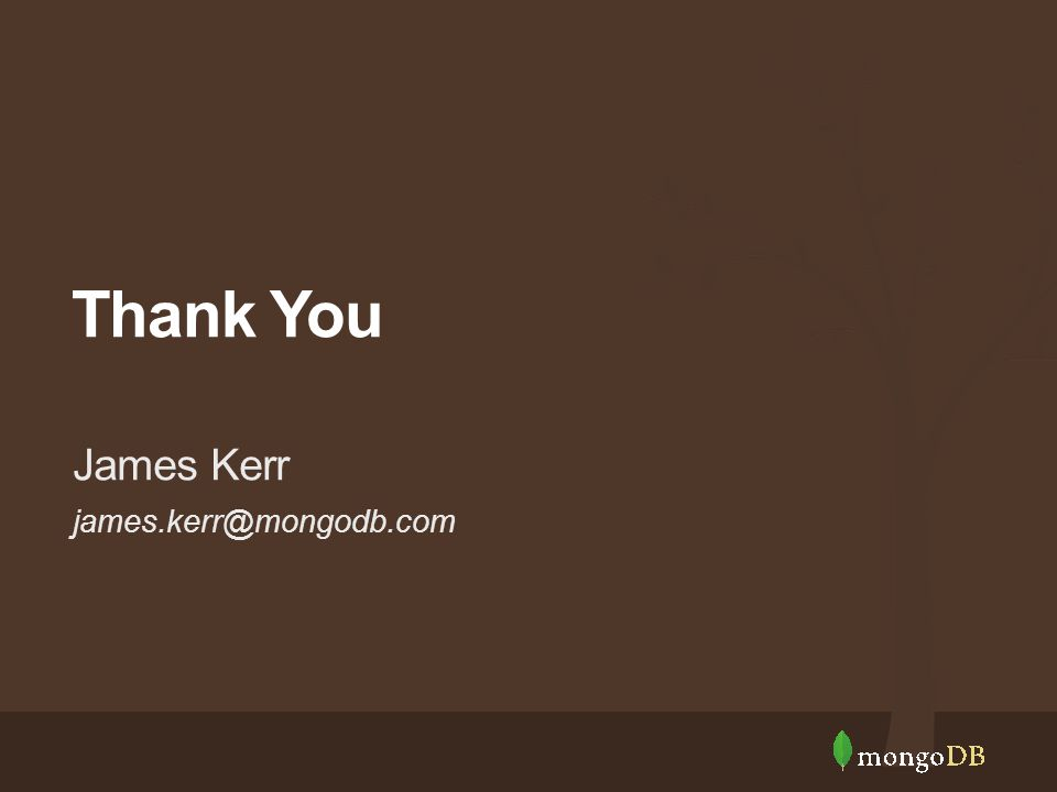 james.kerr@mongodb.com James Kerr Thank You