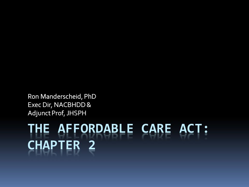 Ron Manderscheid, PhD Exec Dir, NACBHDD & Adjunct Prof, JHSPH