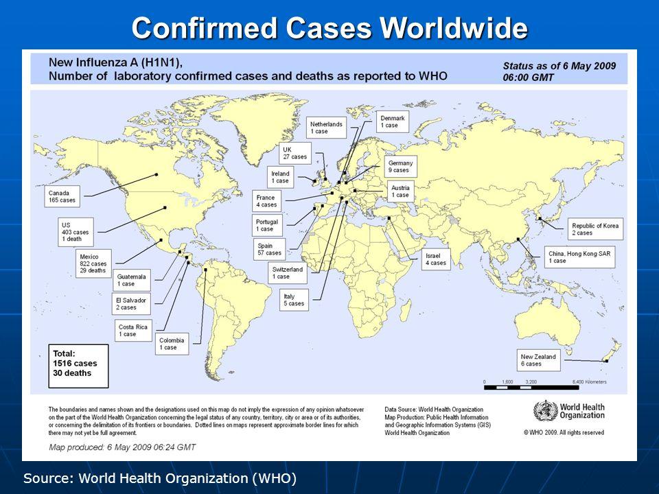 US Confirmed Cases Source: http://interactive.foxnews.com/health/swine-flu