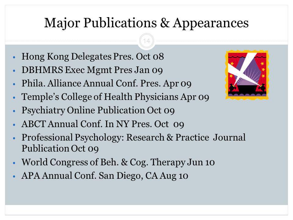 Beck Initiative Winter 2011 Regina Xhezo 14 Major Publications & Appearances Hong Kong Delegates Pres.
