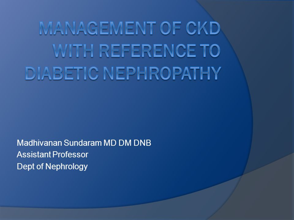 Madhivanan Sundaram MD DM DNB Assistant Professor Dept of Nephrology
