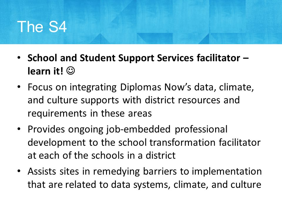 School and Student Support Services facilitator – learn it.