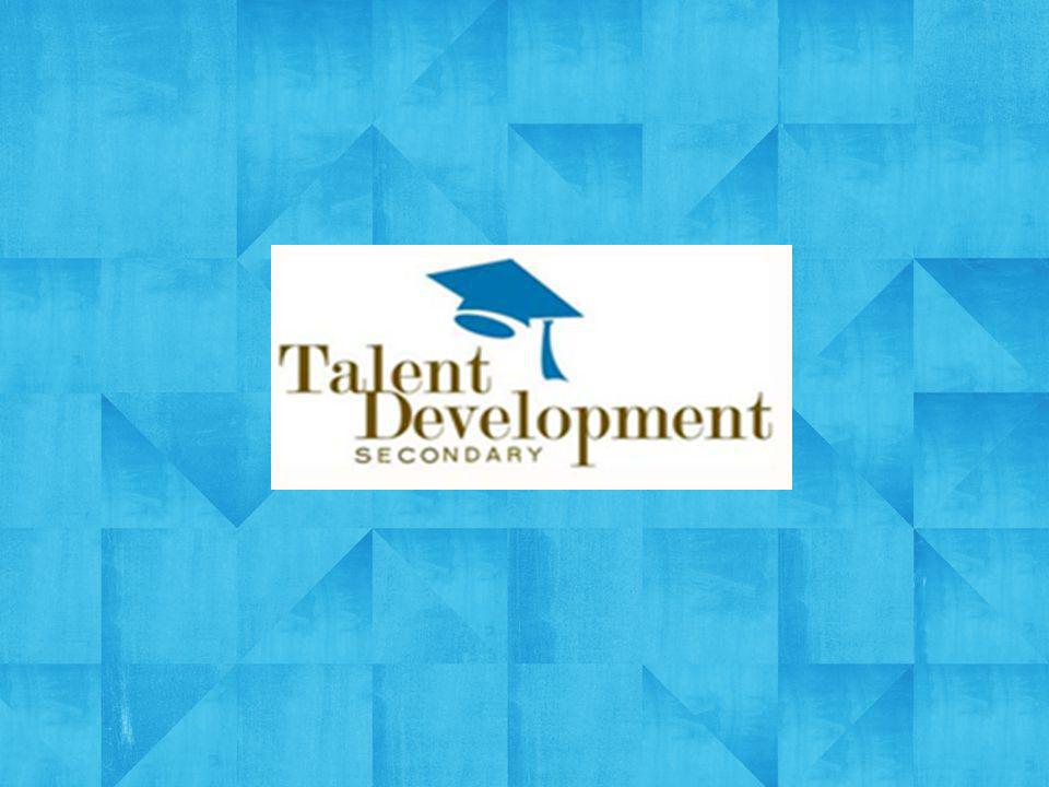 Johns Hopkins Talent Development Secondary Research-based reform model designed by Johns Hopkins University Established model working in schools since 1994 Serving more than 100 schools and reaching more than 50,000 students nationwide, almost 90% of whom qualify for Free and Reduced Lunch Running three schools, tow of which are Diplomas Now sites.