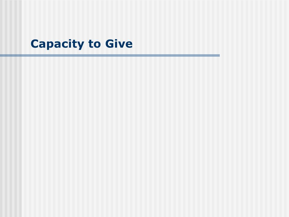 Capacity to Give