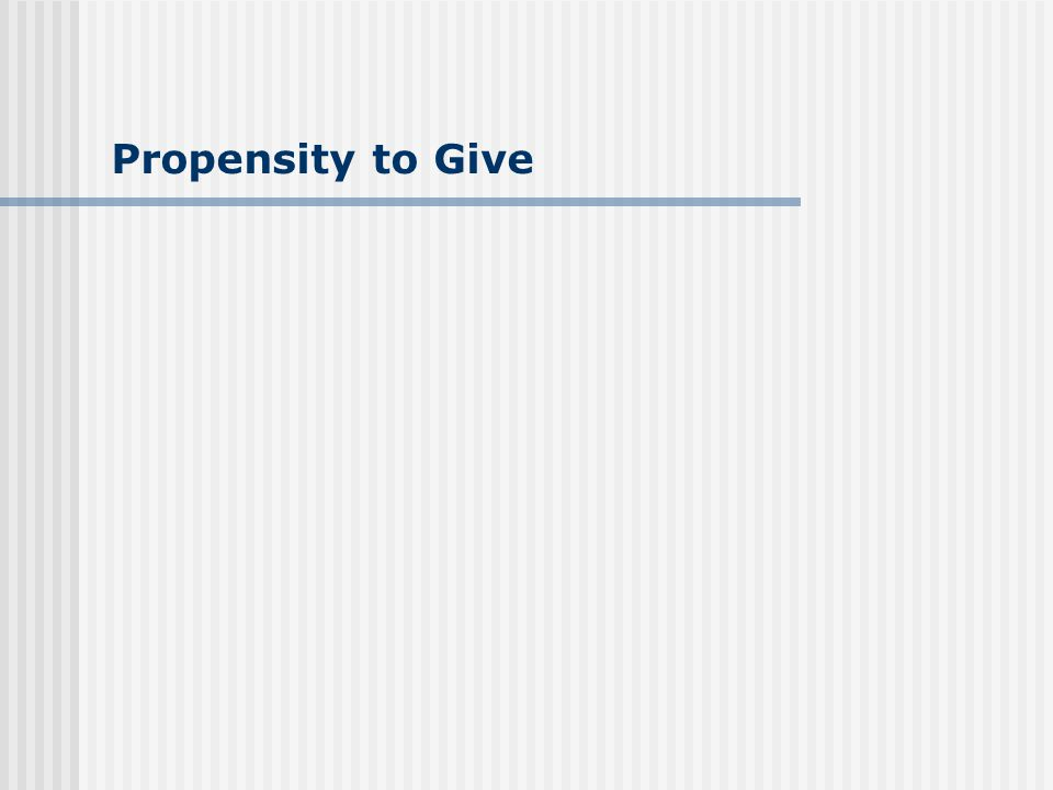 Propensity to Give