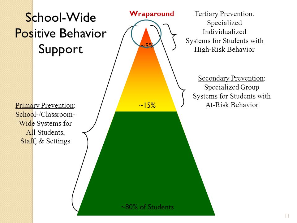 11 Tertiary Prevention: Specialized Individualized Systems for Students with High-Risk Behavior Secondary Prevention: Specialized Group Systems for St