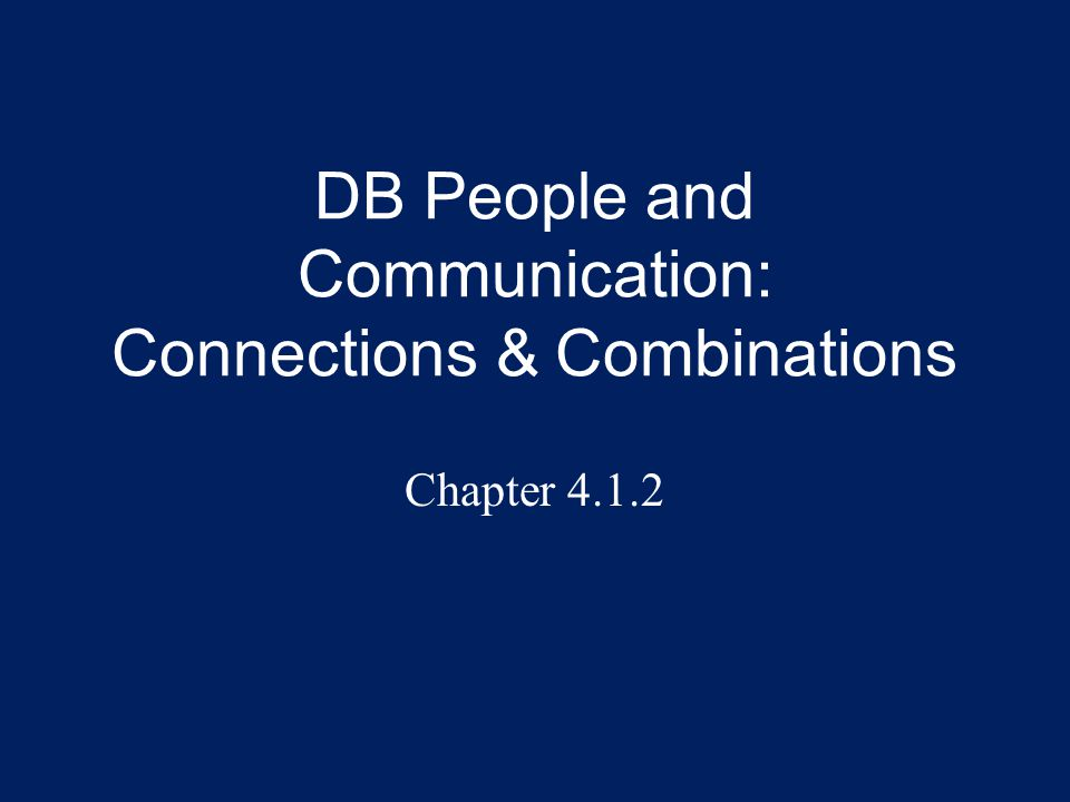 Overview Communication within the DB Community and among DB people is complex.