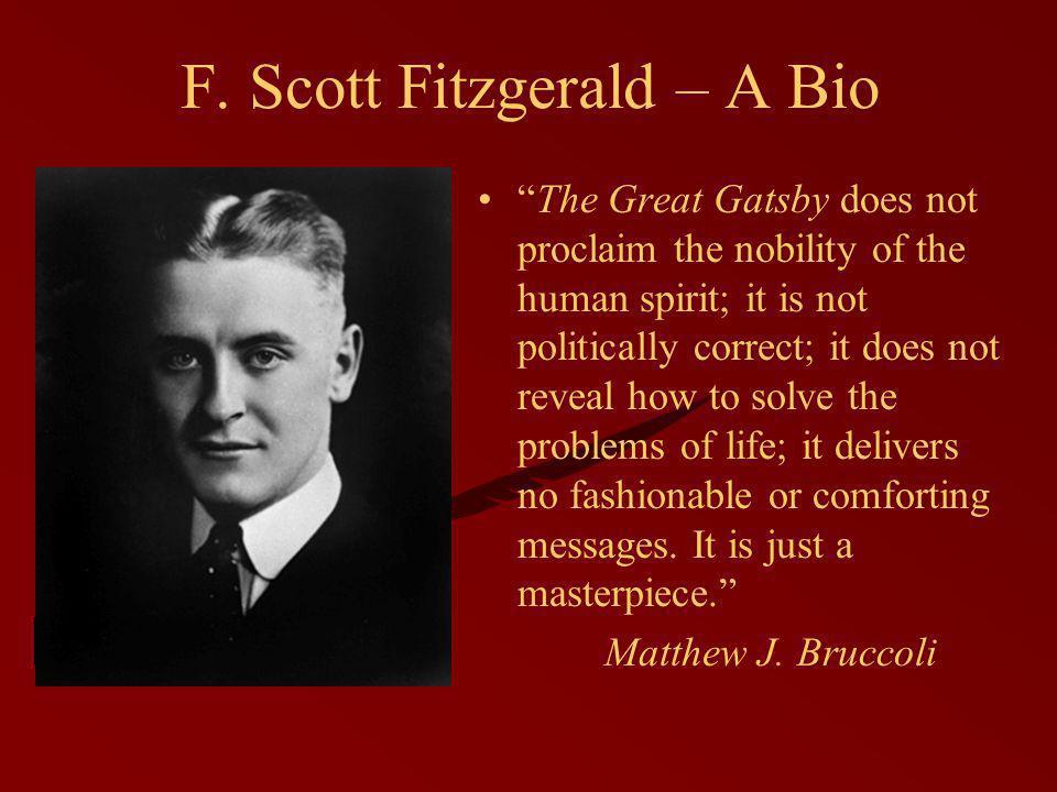 F.Scott Fitzgerald – A Bio Born in 1896 in St.