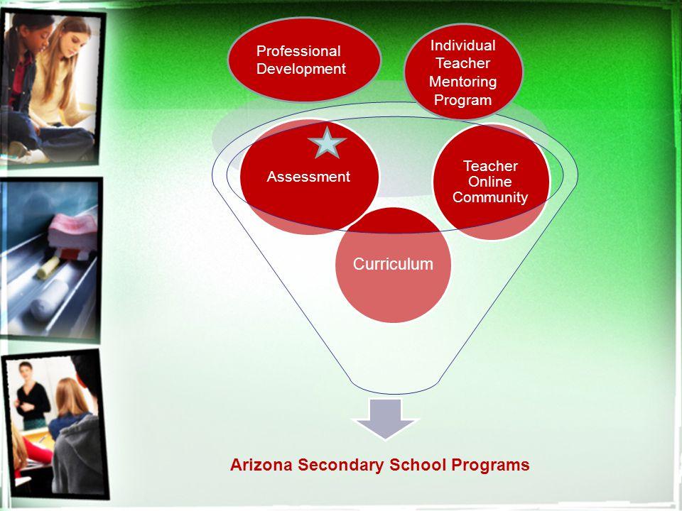 Arizona Secondary School Programs Curriculum Assessment Teacher Online Community Individual Teacher Mentoring Program Professional Development