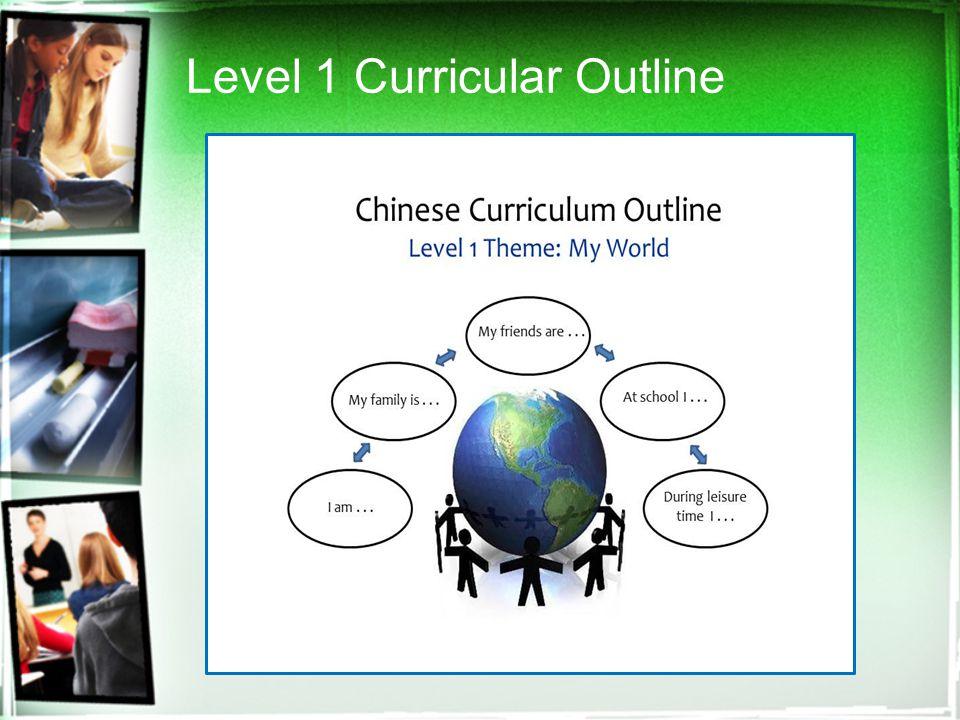 Level 1 Curricular Outline