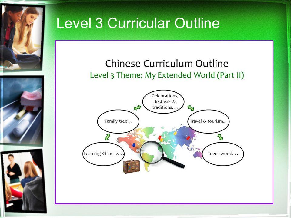 Level 3 Curricular Outline
