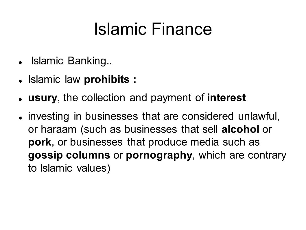 Islamic Finance Islamic Banking..