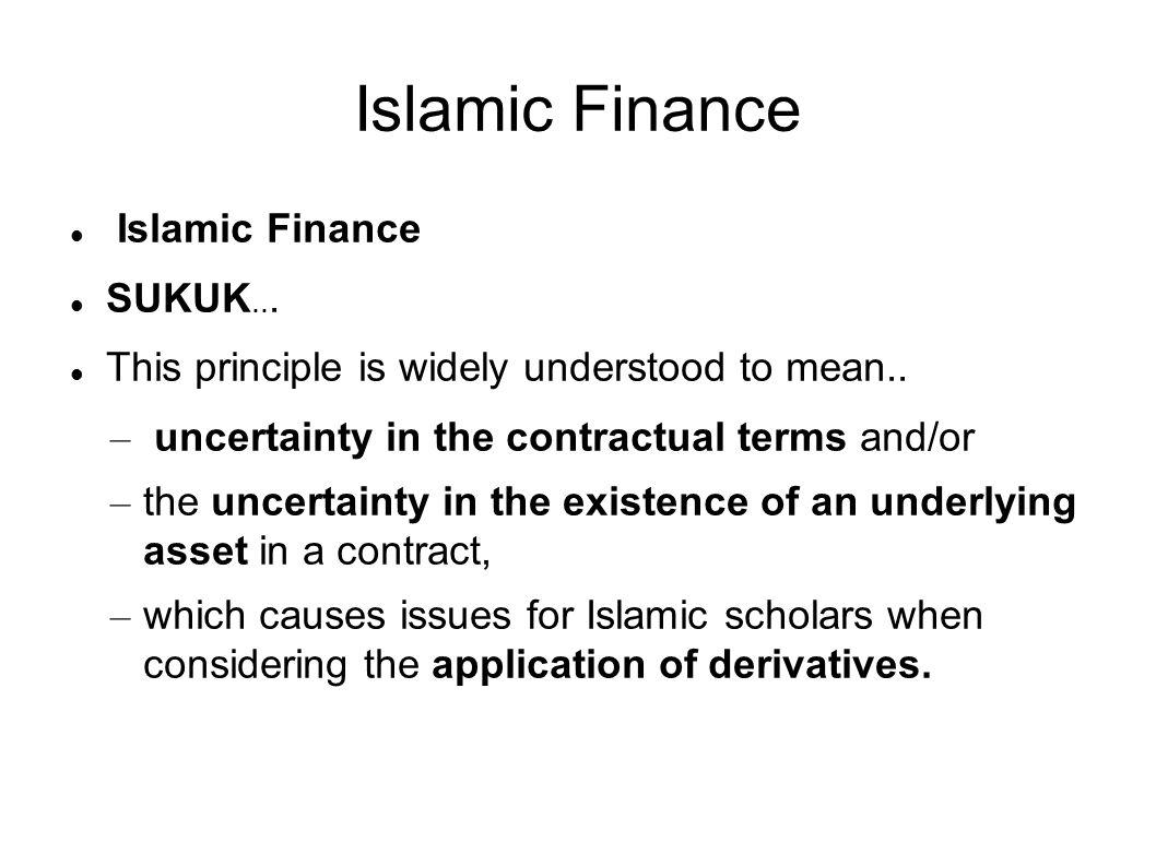 Islamic Finance SUKUK...