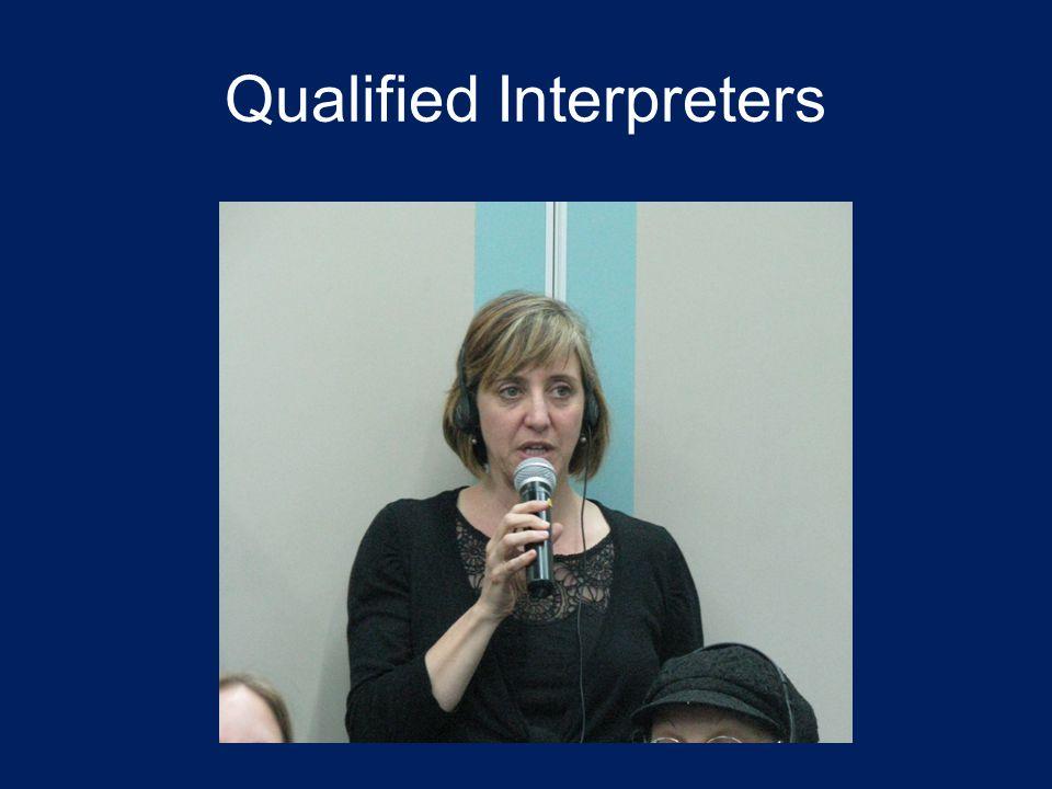 Qualified Interpreters