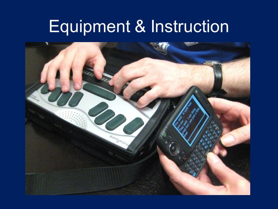 Equipment & Instruction