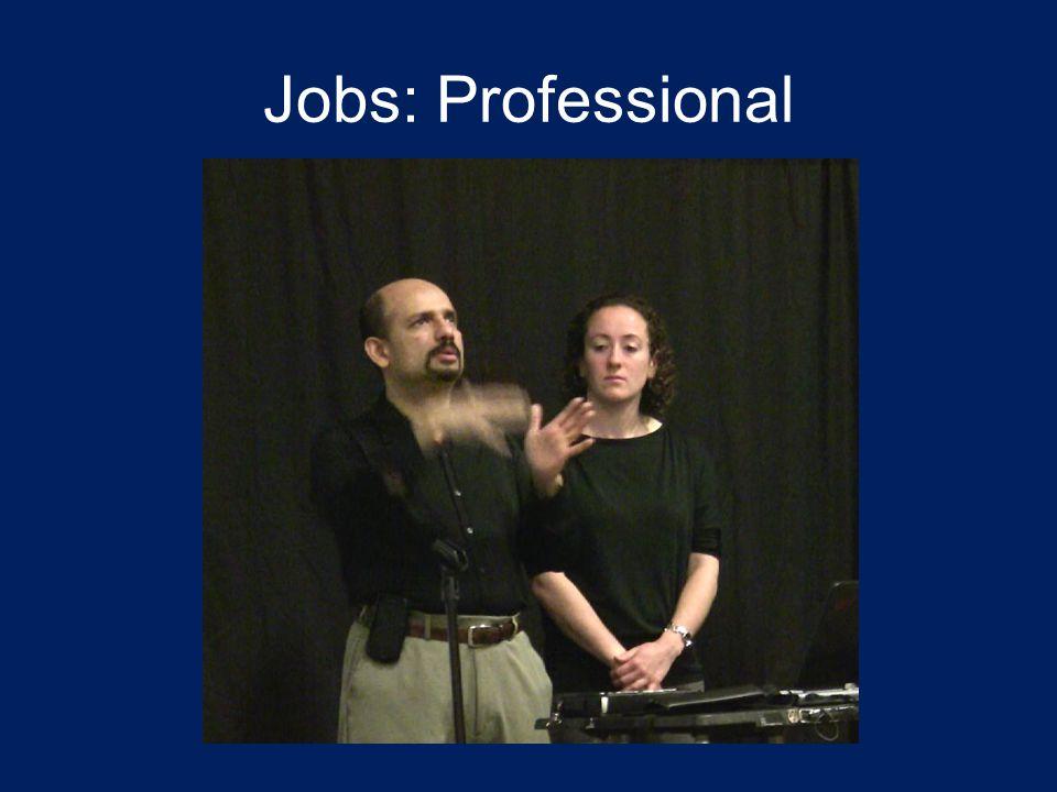 Jobs: Professional