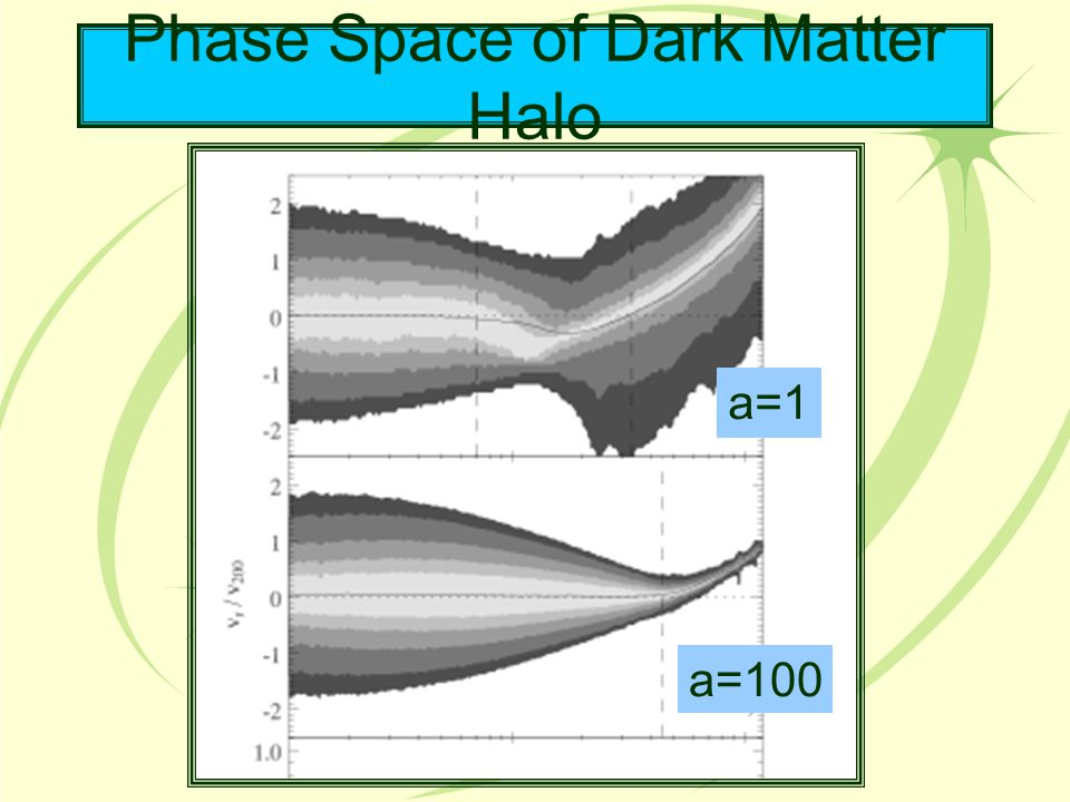 Phase Space of Dark Matter Halo a=1 a=100
