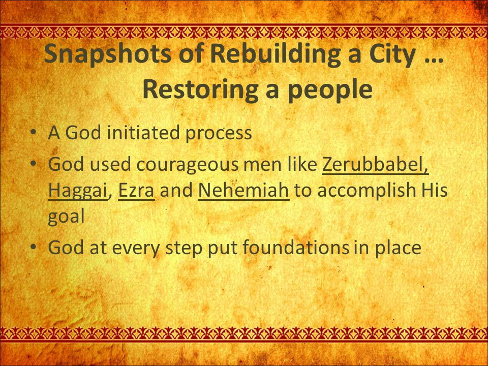 The Result: Nehemiah 6:15-16 So the wall was completed on the twenty- fifth of Elul, in fifty two days.
