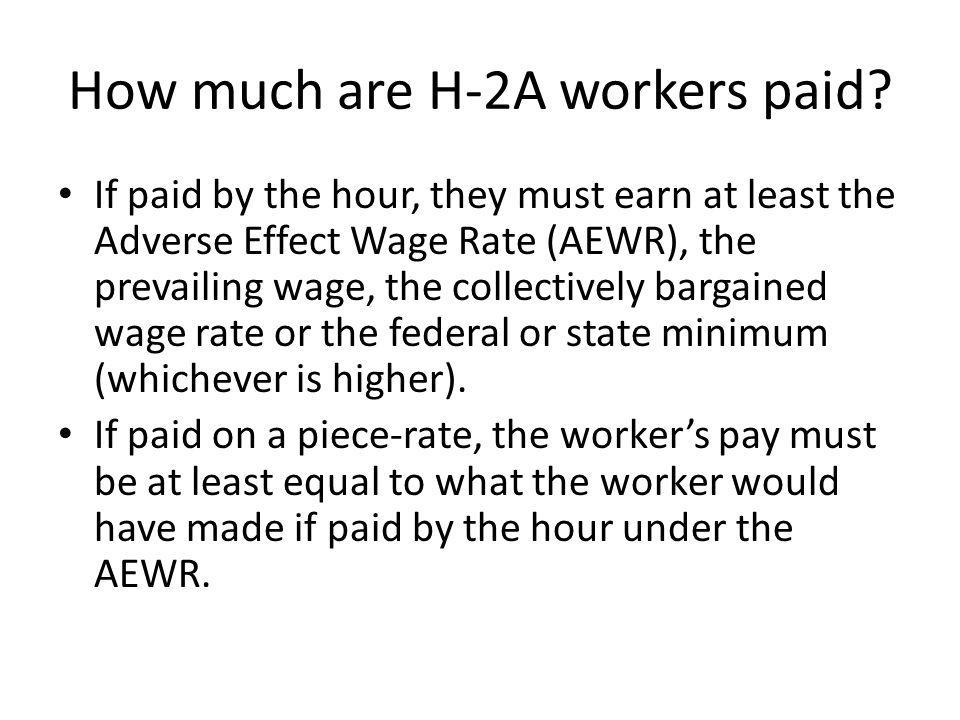 How much are H-2A workers paid.