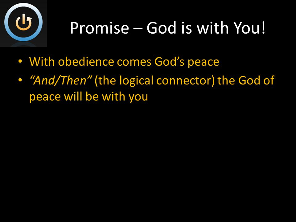 Promise – God is with You.